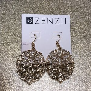 Zenzii gold statement earrings